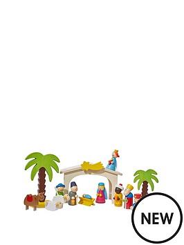 gisela-graham-wooden-kids-christmas-nativity-scene-set-16-piece