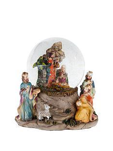gisela-graham-nativity-scene-music-dome-christmas-ornament-with-three-kings-detail