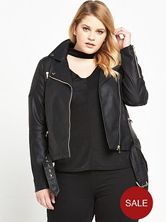 v-by-very-curve-double-buckle-pu-jacket-black