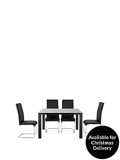 atlantic-120-cm-gloss-dining-table-4-jet-chairs