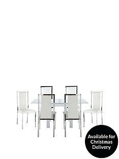 gloss-80-160-cm-square-to-rectangle-dining-table-6-atlantic-chairs-buy-and-save