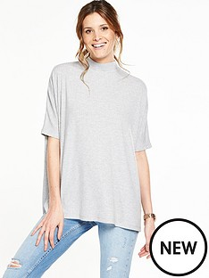 v-by-very-high-neck-rib-slouchy-cross-back-top