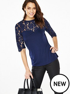 v-by-very-corded-lace-yoke-34-sleeve-top