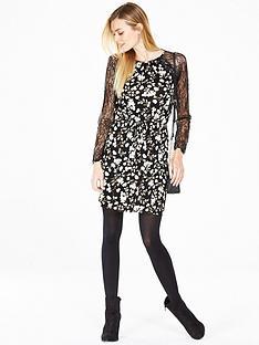 v-by-very-lace-raglan-tea-dress