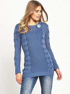 joe-browns-longline-corsage-sweater-blue