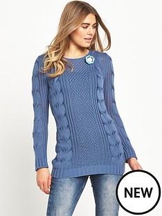 joe-browns-longline-corsage-sweater-blue