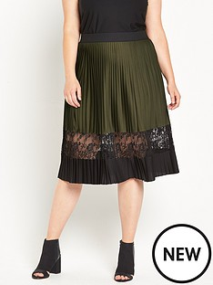 ri-plus-khaki-pleated-midi-skirt-with-lace-insert