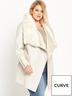 ri-plus-faux-fur-fallaway-jacket-cream