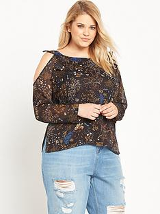 ri-plus-printed-cold-shoulder-top