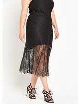 RI Plus Lace Maxi Skirt