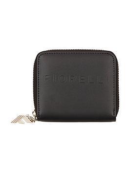 fiorelli-logo-small-zip-around-purse-black