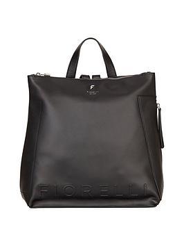 fiorelli-finley-casual-logo-backpack-black