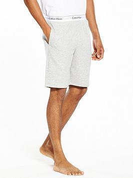 Calvin Klein   Branded Waist Lounge Shorts - Grey Heather
