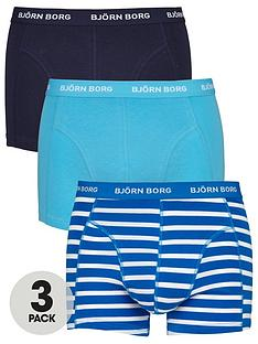 bjorn-borg-3pk-plainstripe-trunks