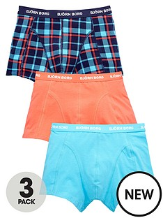 bjorn-borg-3pk-plaincheck-trunks