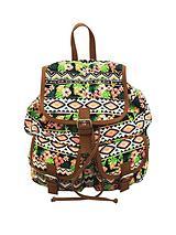 Canvas Backpack - Aztec Print