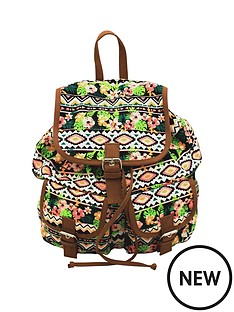 lili-b-canvas-backpack-aztec-print