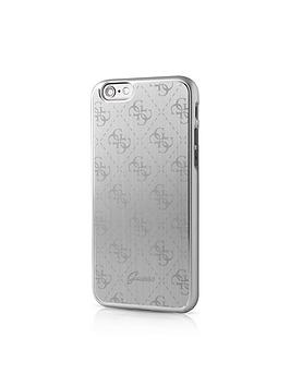 Guess Guess 4G Aluminum Plate  Hard Case  Silver Iphone 66S Plus