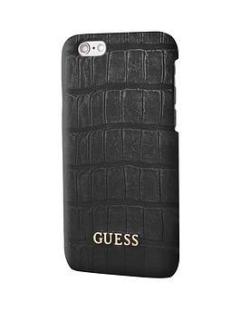 Guess Guess Croco  Pu Hard Case  Matte Black Iphone 66S