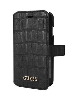 Guess Guess Croco  Pu Booktype Case  Matte Black Iphone 66S