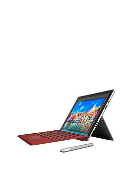 Microsoft Surface Pro 4 Intel&Reg Core&Trade I7 Processor 16Gb Ram 512Gb Solid State Drive WiFi 12.3 Inch Tablet With Red Cover