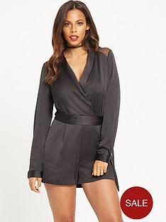 rochelle-humes-lingerie-playsuit-black