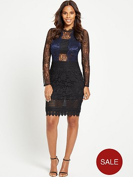 rochelle-humes-chantilly-lace-long-sleeve-dress
