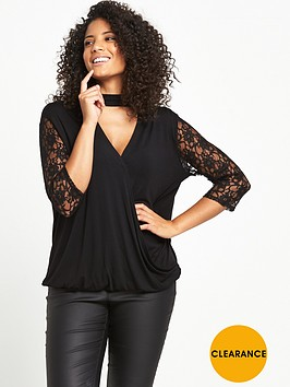 so-fabulous-lace-sleeve-wrap-top