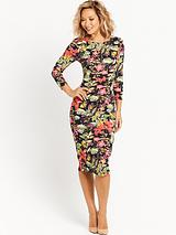 Floral Printed Fitted Dress