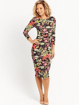 myleene-klass-floral-printed-fitted-dress