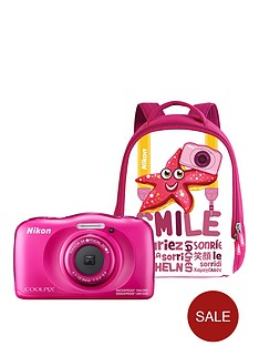 nikon-coolpix-w100-pink-camera-with-backpack-kit