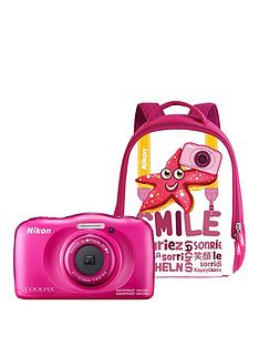 nikon-coolpix-w100-pink-camera-with-free-backpack-kit