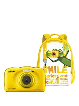 Nikon Coolpix W100 Yellow Camera With Backpack Kit