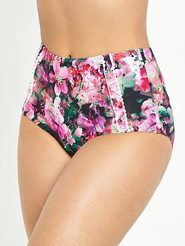 V By Very Controlwear Scallop Trim High Waist Bikini Brief