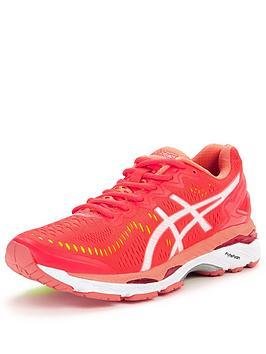 Asics GelKayano 23 Running Shoe  PinkWhite