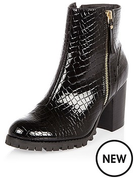 river-island-croc-side-zip-chunky-ankle-boot