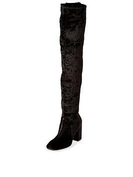 river-island-flare-heelnbspover-the-knee-boot-black