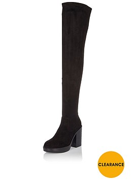 river-island-over-the-kneenbspblock-heel-boot-black