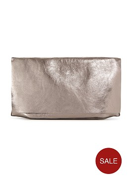 warehouse-warehouse-premium-leather-slouch-clutch-bag