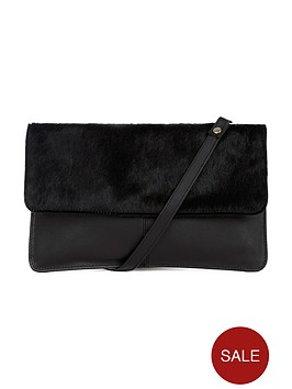 warehouse-leather-pony-hair-crossbody-bag-black