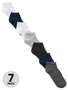 V By Very Boys Core Ankle Socks (7 Pack)