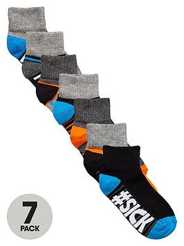 V By Very Boys Slogan Socks (7 Pack)