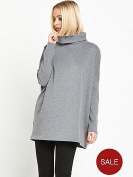 warehouse-rib-detail-roll-neck-jumpernbsp--grey