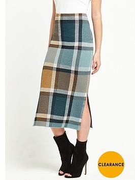warehouse-check-skirt