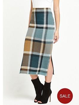 warehouse-check-skirt