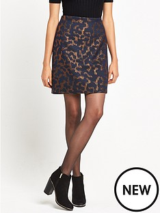 warehouse-warehouse-camo-animal-jacquard-pelmet-skirt