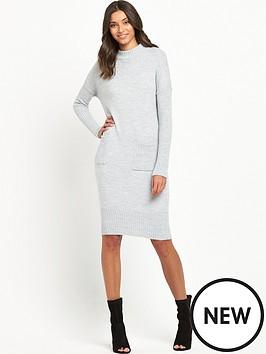 miss-selfridge-slouchy-pocket-dress-grey