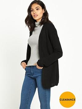 miss-selfridge-lattice-back-cardigan--black