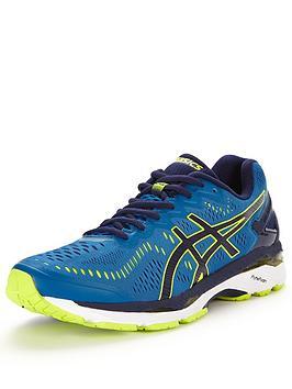 Asics GelKayano 23 Running Shoe  BlueYellow