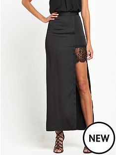 miss-selfridge-satin-lace-split-hem-maxi-skirt-black